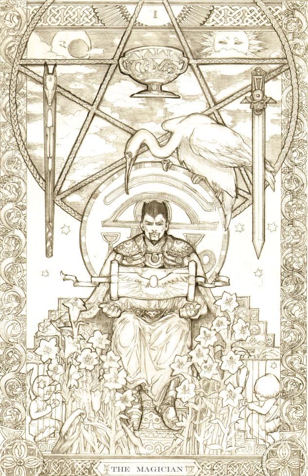 Tarot Doctor Strange by DubuGomdori