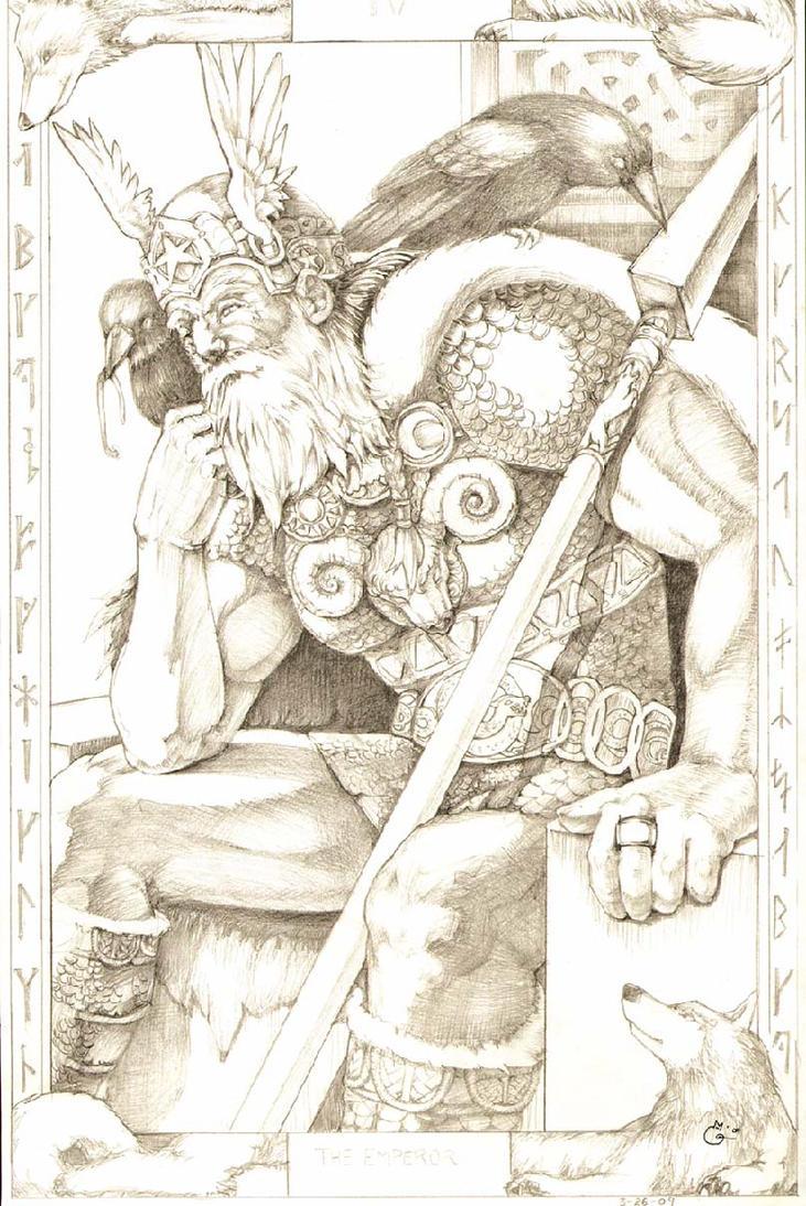 Tarot Odin by DubuGomdori