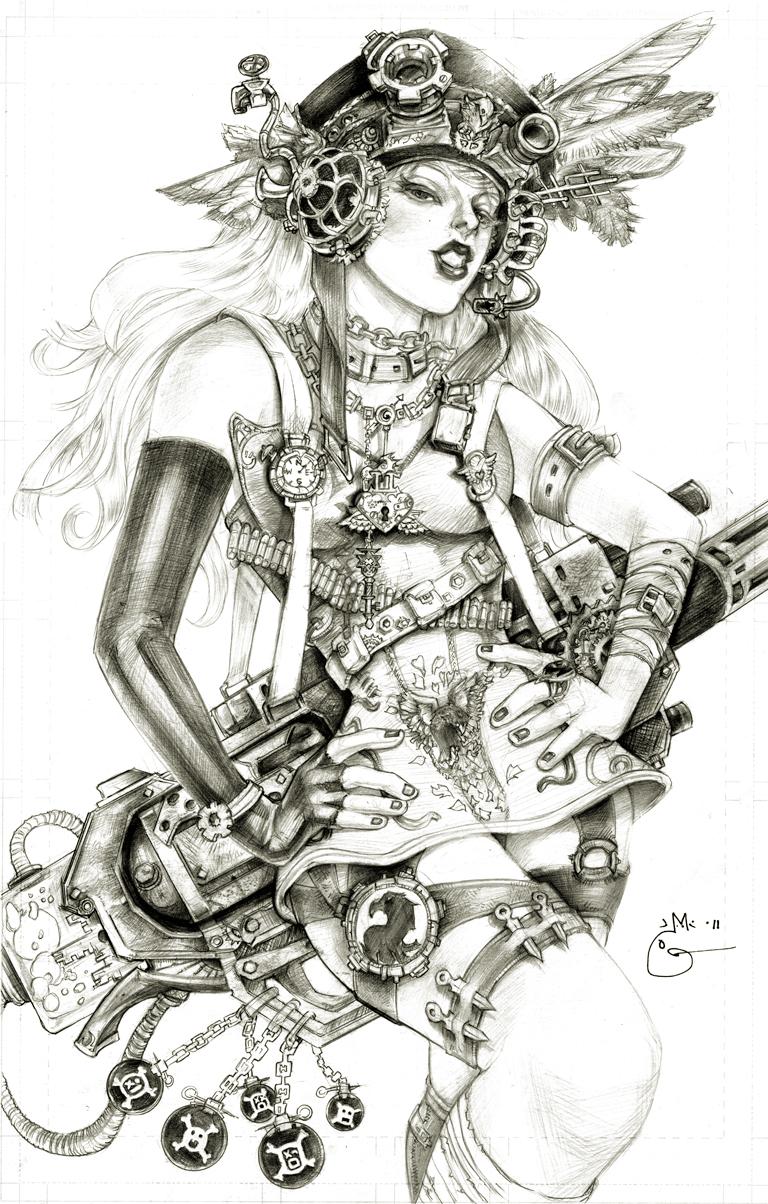 Steampunk Lady Blackhawk Zinda Blake by DubuGomdori