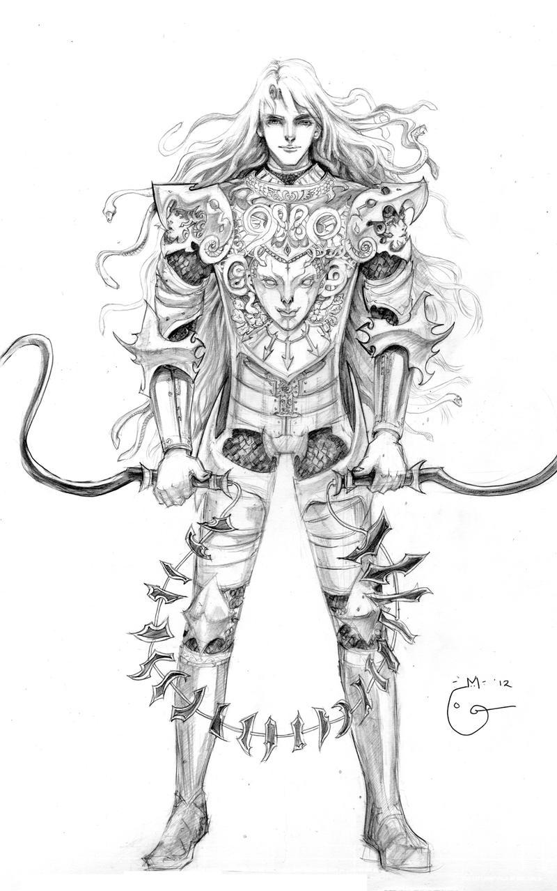 Concept Medusa warrior