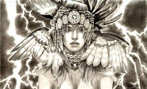 Head Dress: Lady Shazam - Mystic Goddess of Might