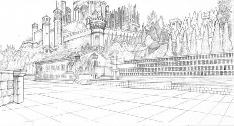 KingsLanding RedKeep Courtyard by DubuGomdori