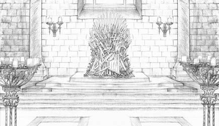 Kings Landing Throne Room by DubuGomdori