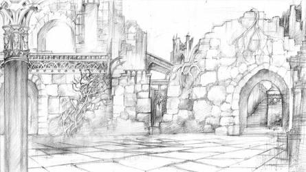 Court Yard Harrenhal by DubuGomdori
