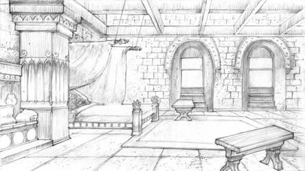 Harrenhal Chamber by DubuGomdori