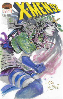 Marvel X-Men Samurai Psylocke Sketch Cover
