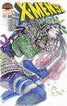 Marvel X-Men Samurai Psylocke Sketch Cover