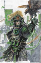 6/8 Samurai Green Lantern by DubuGomdori