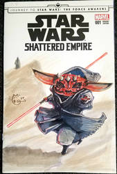 Star Wars Baby Yoda as Darth Maul