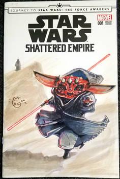 Star Wars Baby Yoda as Darth Maul