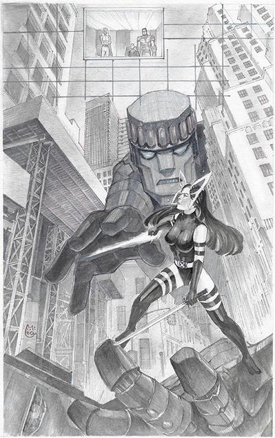 Uncanny X-Men Psylocke in the Danger Room