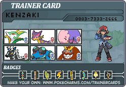 black trainer card