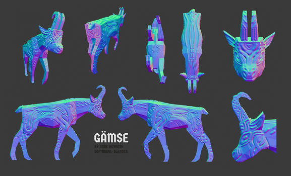 3D // Chamois sculpt by Antarasis