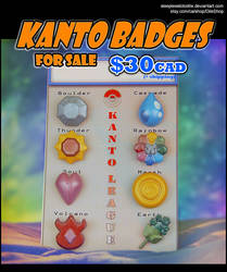 Kanto Badge Pins for sale! 30 (CAD)$