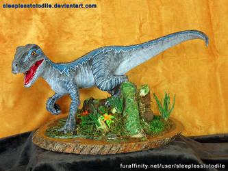 Blue the Raptor Sculpt - Jurassic World by SleeplessTotodile