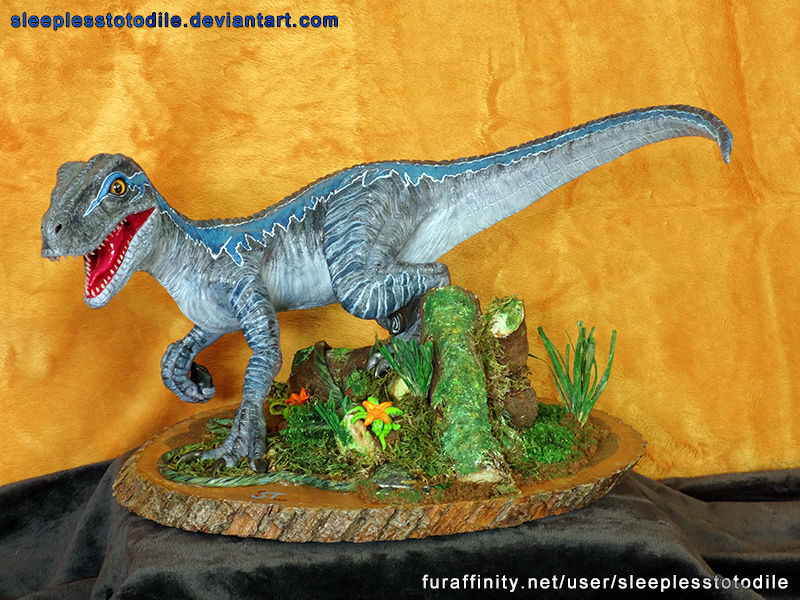 Blue the Raptor Sculpt - Jurassic World