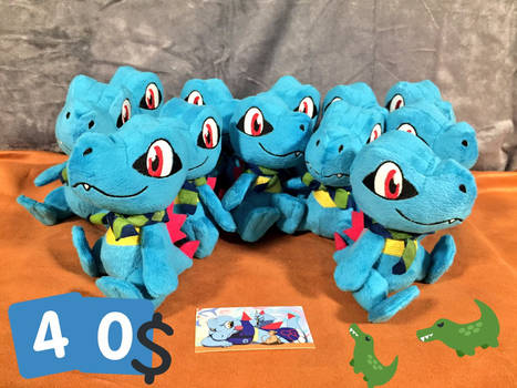 Mini PSMD Totodile Plushes for sale (40$)