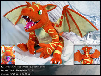 Nogard the Dragon Plush Commission by SleeplessTotodile