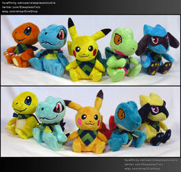 Mini PSMD Plushies by SleeplessTotodile