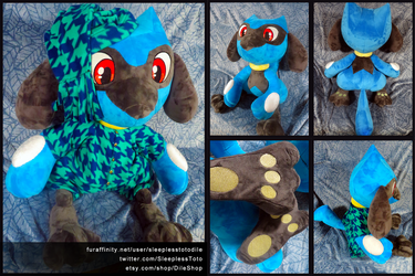 Riolu Plush Commission