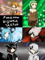 Pokemon gijinka by TakkuNoTori