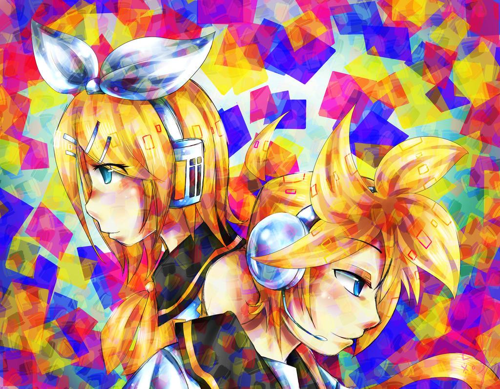 Kagamine Rin And Len Kaleidoscope by TakkuNoTori