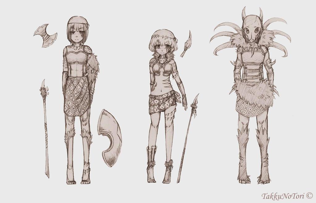 C Warrior Outfits by TakkuNoTori on DeviantArt