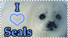I heart Seals stamp by ArtistsforAnimals