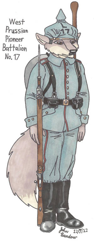 Wolf from West Prussian Pioneer Battalion No.17