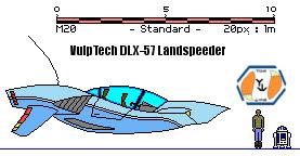 VulpTech DLX-57 Landspeeder by MarcusStarkiller