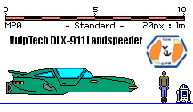 VulpTech DLX-911 Landspeeder by MarcusStarkiller
