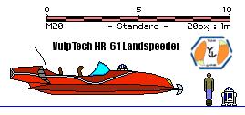 VulpTech HR-61 Landspeeder by MarcusStarkiller