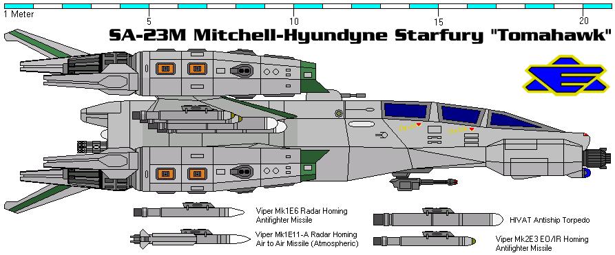SA-23M Mitchell-Hyundyne Starfury 'Tomahawk' By