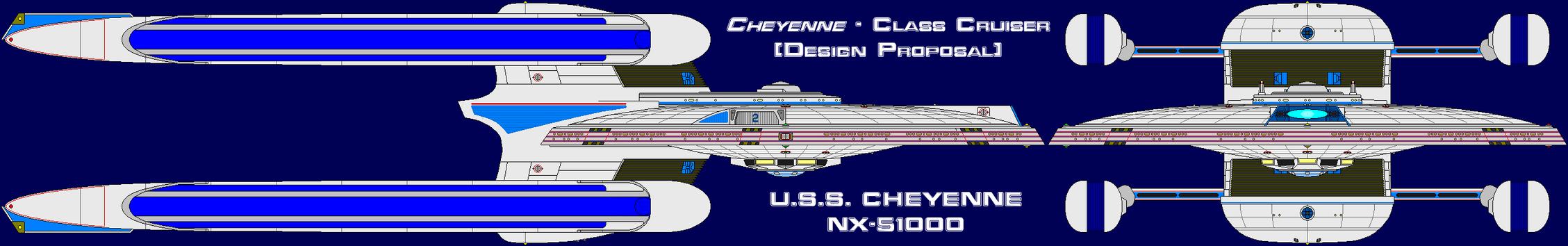 Cheyenne Class Cruiser Design Proposal by MarcusStarkiller
