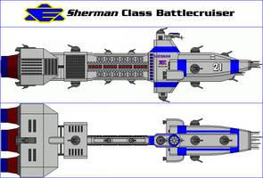 Sherman Class Battlecruiser by MarcusStarkiller