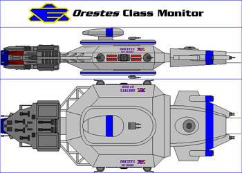 Orestes Class Monitor by MarcusStarkiller