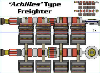 Achilles Type Freighter by MarcusStarkiller