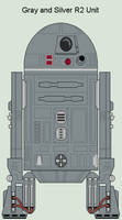 Gray and Silver R2 Unit