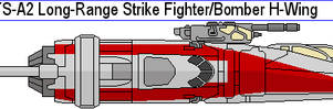 BTS-A2 Long-Range Strike Fighter Bomber H-Wing by MarcusStarkiller