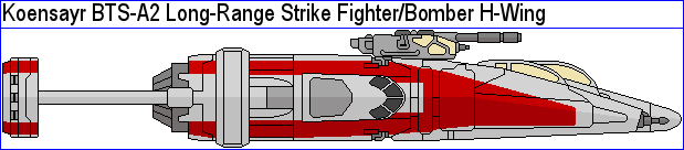 BTS-A2 Long-Range Strike Fighter Bomber H-Wing by