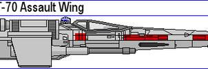 Incom T-70 Assault Wing by MarcusStarkiller