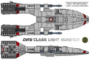 Dire Class Light Gunstar  by MarcusStarkiller