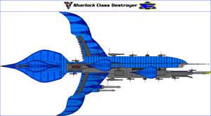 Sharlock Class Destroyer by MarcusStarkiller