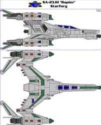 SA-23JH Rapier Starfury by MarcusStarkiller