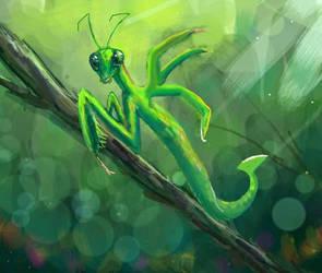 Mantis Ofidiosa by Colegagendarios