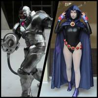 Raven and Cyborg (Teen Titans DragonCon 2013) by AkatsukiAkuma53421