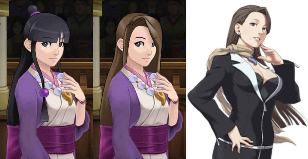 Maya Fey And Mia Fey Comarison By Alexgamer987 On Deviantart She started out at grossberg law offices, then eventually created her own criminal defense law firm, fey & co. maya fey and mia fey comarison by