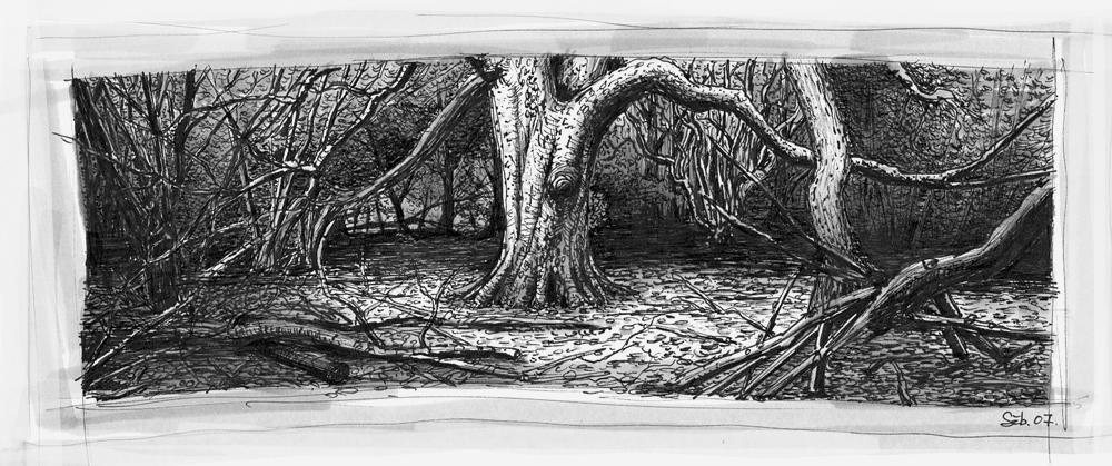 sketch forest by pixogene