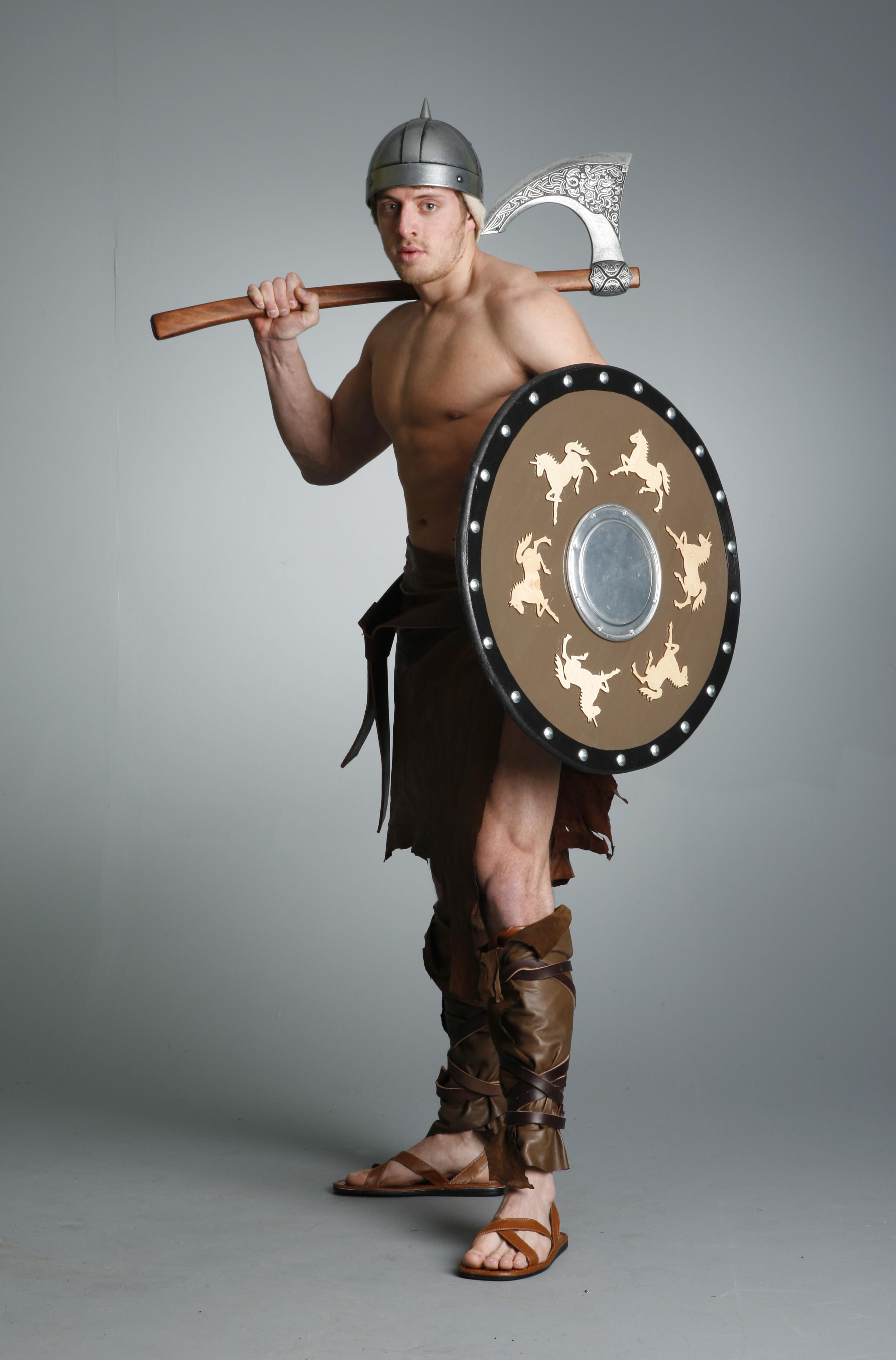 Barbarian Warrior J - 13 by mjranum-stock