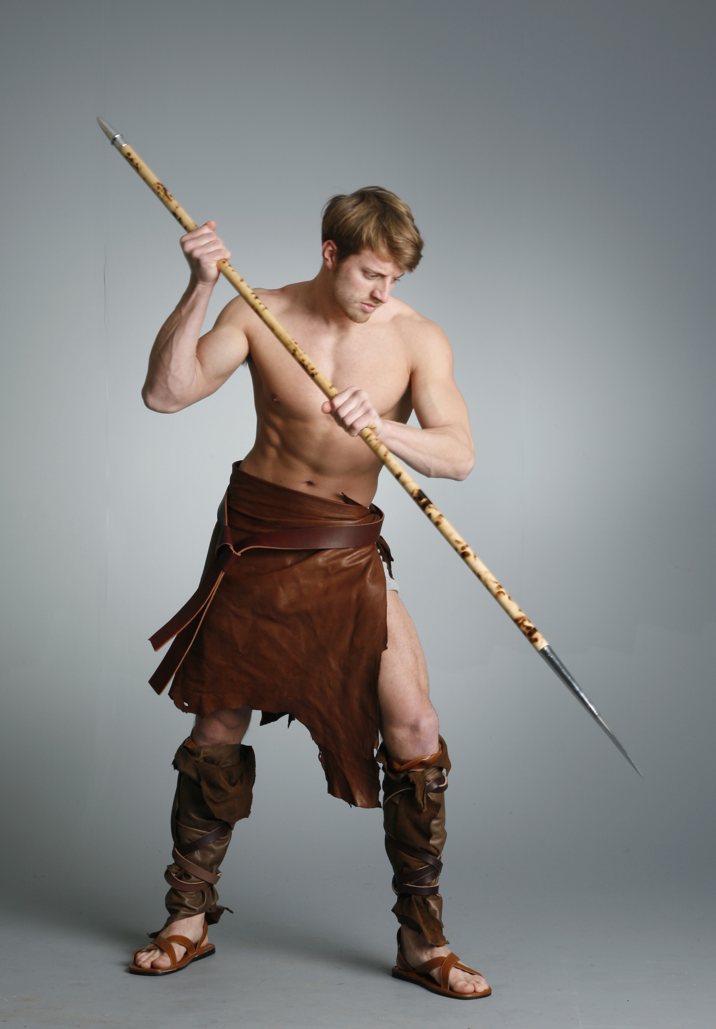 Barbarian Warrior - 19 by mjranum-stock